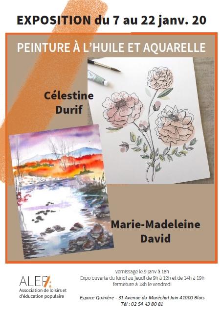 Exposition des peintures de Célestine Durif et Marie-Madeleine David