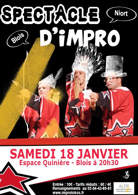 SPECTACLE D'IMPRO / SAM. 18 JANV / BLOIS VS NIORT