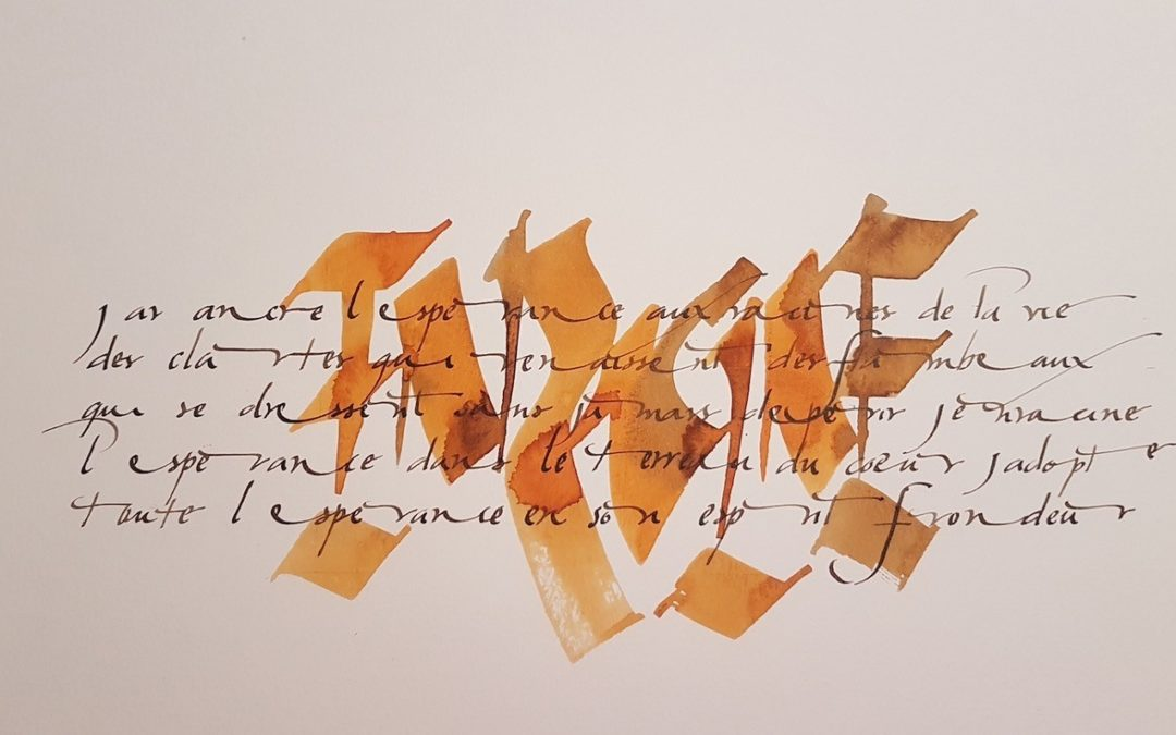 « Petit journal calligraphique d'un confinement »