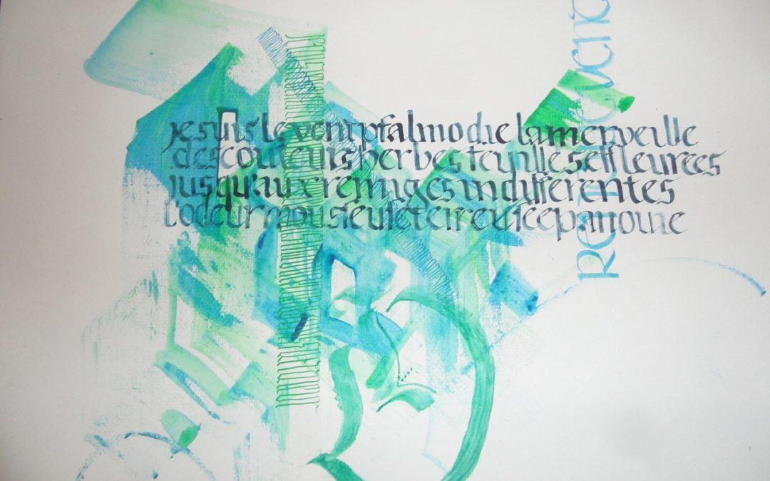 Journal calligraphique – Renoue vent de Nadia Ben Slima