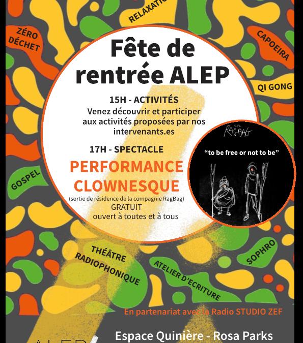 FÊTE DE RENTRÉE DE L'ALEP