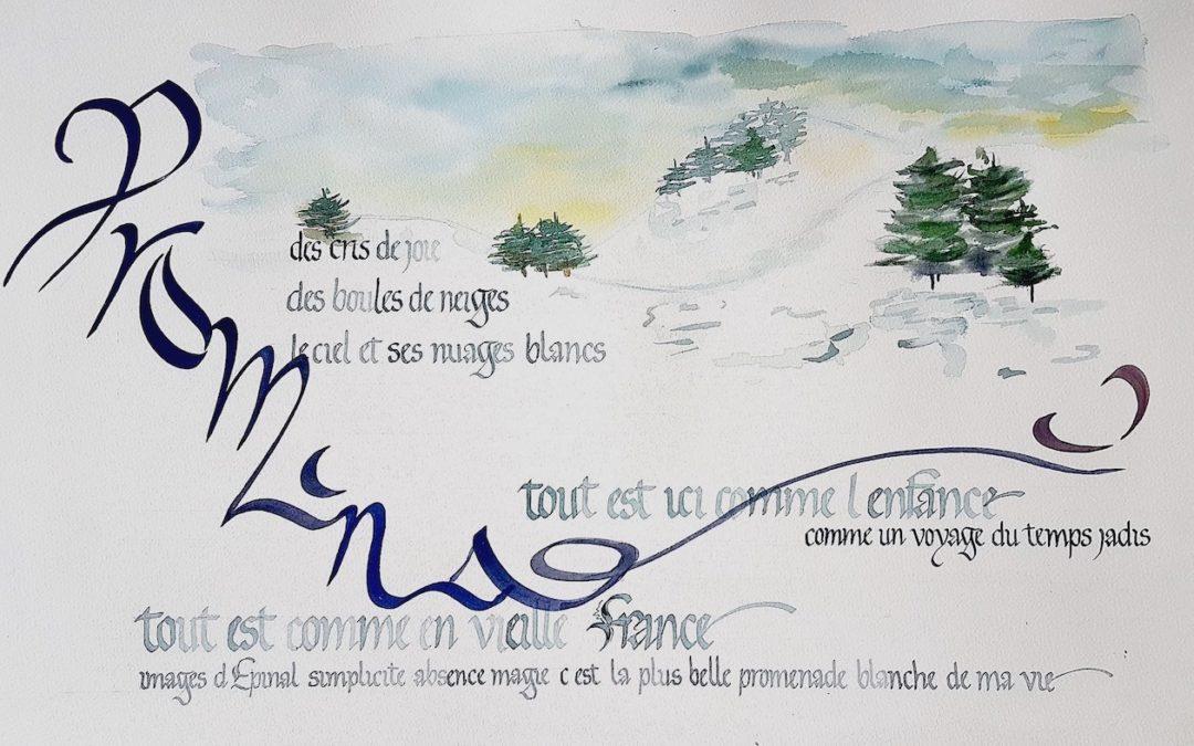 Journal calligraphique n°4 – Promenade blanche de vieille France d'Elodie Santos